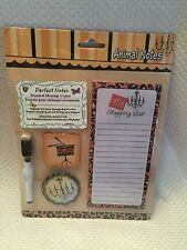 Personal Message Center Animal Notes NOTE PAD Magnets Dry Erase Magnetic Board