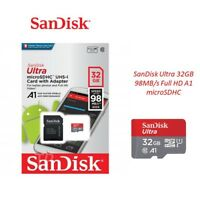 SanDisk Ultra 32GB Class 10 UHS-I  micro SD SDHC memory card HD High Speed