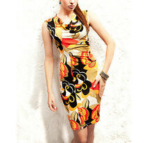 Women's Casual Wear Floral Pattern Cocktail Bodycon Dress UK size 8-10