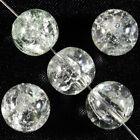 Lot de 20 perles craquelées en verre 10mm Cristal