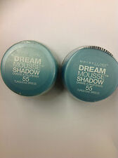 2 X Maybelline Dream Mousse Eye Shadow TURQUOISE BREEZE #55 NEW AND SEALED