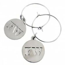 Fuseworks Glass Fusing Kiln Supplies Wine Charms For Fused Decor Silver Plated!