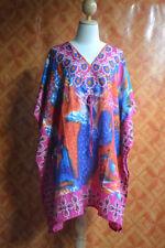 S1102 Boho Casual Viscose Paisley Kaftan Caftan Kimono Summer Top S M L  XL 2X