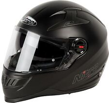 SALE - Nitro N2200 Full Face Motorcycle Helmet - Matt Black- SALE
