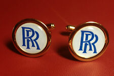 2# ROLLS ROYCE HIGH QUALITY GOLD PLATED CUFFLINKS IN DISPLAY CASE