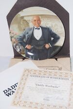 Bradford Knowles Daddy Warbucks The Annie Collection Fine China Plate 8.5 W/Coa