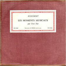 "YVES NAT, SCHUBERT ""MOMENTS MUSICAUX"" 60'S 25 cm DISCOPHILES FRANCAIS 25.003"