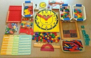Math Manipulative Huge Lot, Homeschool Classroom, ETA Cuisenaire, Saxon,