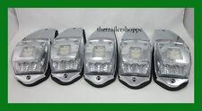 5 Kenworth Peterbilt Spyder Roof Cab Marker Light 11 LED Amber Clear Lens
