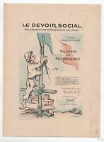 POULBOT. Souvenir de Reconnaissance LE DEVOIR SOCIAL. 1920