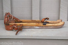 Antique Wooden Dutch Ice Skates Super PB De Friesche Schaat Rustic Cabin Decor