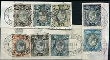 SOUTH AFRICA 1931-37 KGV SMALL HEAD REVENUES USED ON PIECES 1NC 15/- BF28