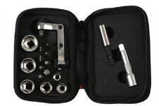 Mini Flexi Ratchet Socket & Bit Set In Carry Case with Clip Belt Holder 17pc