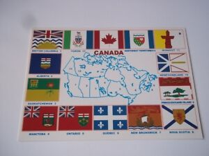 Canada postcard-Flags of the Provinces & Territories. Unused (not postally used)