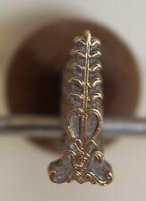 Fer à Dorer Fleuron modèle XIXe s Bronze Reliure Doreur Relieur signé Bearel #15
