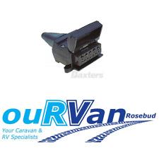 1 x NEW 12 PIN TRAILER SOCKET FLAT SUIT 4X4 4WD CARAVAN TRAILER JAYCO NEW AGE