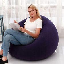 Blau Aufblasbares Sitzsack Gamer Sessel Beanbag Tobekissen Für Innen & Außen