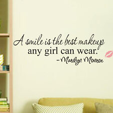 Smile Art Marilyn Monroe Quote Vinyl Wall Sticker Home Decor Decal #keku-2016