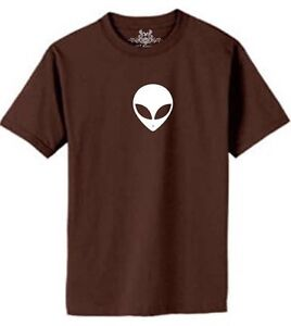 NW MEN'S PRINTED ALIEN HEAD OUTER SPACE FUNNY UFO HIP HOP SHORT SLEEVE T-SHIRT