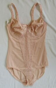New Prima Donna Pale Pink Underwired Bodysuit with Embroidery Size UK 38 D