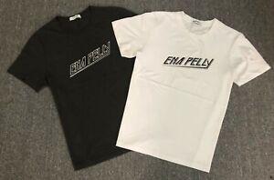 Ena Pelly Womens 80's Block Logo Tee Shirt Crew Graphic Cotton Jersey Tops 6-16