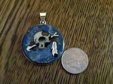 Grateful Dead Cyclop's Skull Sterling Silver Pendant Hand Carved Stone