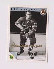 1992 Ultimate Original 6 Don Marshall Montreal Canadiens Autographed Card