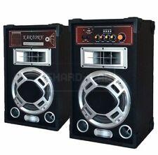 😍 COPPIA CASSE AMPLIFICATE ATTIVE BLUETOOTH 400W KARAOKE + RADIO FM attive dj
