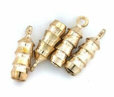 TWO  GOLDPLATED BOLO BOLA TIPS WITH LOOP CF575