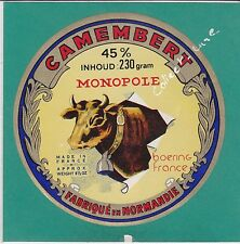 H54 FROMAGE CAMEMBERT MONOPOLE NORMANDIE VARIANTE VACHE CLOCHE