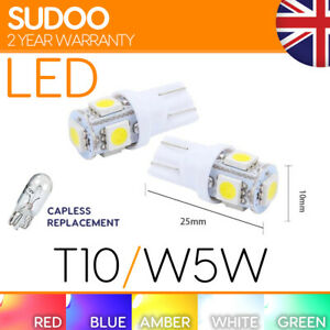501 w5w Smd Led Bulb Xenon T10 Light White Interior Side Red Green Blue Pink