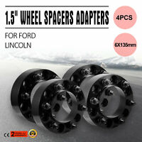 """4pc 1.5"""" Black Wheel Spacers 6x135 For Ford Expedition F150 Lincoln Navigator"""