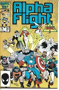 ALPHA FLIGHT #39 MARVEL COMICS 1986 BAGGED AND BOARDED