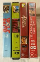 VHS Lot Incident At Raven's Gate, Wolf pack, Devil's Advocate & Ghost & Darkness