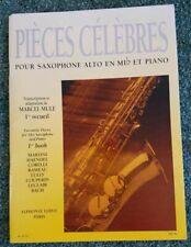 Marcel Mule Pieces Celebres 1st Book - Alto Saxophone Sheet Music w/Piano