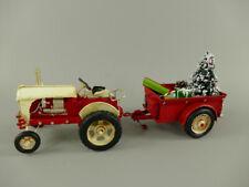 Weihnachtstraktor, Blechauto Traktor Oldtimer aus Metall Weihnachtsdeko Retro  L