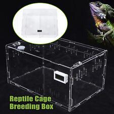 New transparent Acrylic cage breeding big box Reptiles Lizard Feeding Box