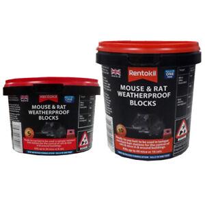 Rentokil Mouse & Rat Killer Poison Mice Bait Station Weatherproof Blocks