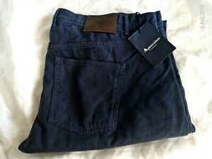 Aquascutum brand new navy cotton twill jeans  £145 size 40R