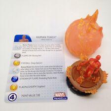 Heroclix Captain America set Human Torch #058 Super Rare figure w/card!