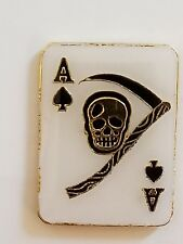 Pin Tie Tac Fast Usa Shipping Ace of Spades Skull Lapel Hat Cap
