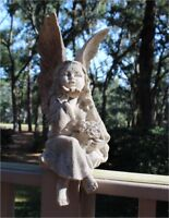 Pixie Fairy Statue made of Faux Marble Garden or Home Sculpture 16 Inch Tall