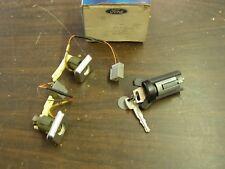 NOS OEM Ford 1985 1986 Thunderbird + Cougar Ignition + Illuminated Door Lock Set