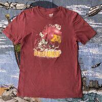 Women's Large Maroon Red Minnesota Golden Gophers NCAA Football T-Shirt Gen2