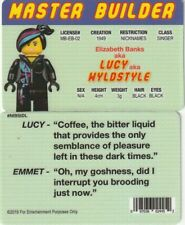 Master Builder LUCY aka WYLDSTYLE Elizabeth Banks fake i.d card Drivers License