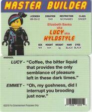 Master Builder Lucy aka Wyldstyle Elizabeth Banks fake i.d card Drivers License