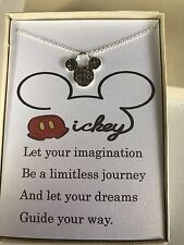 Disney Mickey Mouse Necklace w/ poem