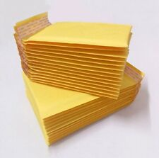 8 pcs Genuine Yellow Bubble Padded Envelopes Mailers kraft Paper Packing Hot