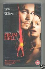 From Hell - Johnny Depp - Heather Graham Horror VHS Video 2001