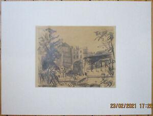 KARL WALTER SCHMIDT 1908-95 - AM NIZZA IN FRANKFURT, Bleistift, monogr., dat. 46